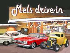 YOUR CUSTOM CAR at Mels Drive-In PHOTO ART Print