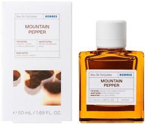 Korres Eau De Toilette Mountain Pepper Men's Perfume 88% Natural Content 50ml