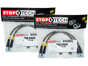 Stoptech Stainless Steel Braided Brake Lines (Front & Rear Set / 37013+37013)