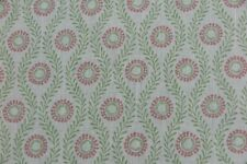 """COLEFAX AND FOWLER CURTAIN FABRIC DESIGN """"Swift"""" 6 METRES PINK/GREEN 100% LINEN"""
