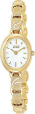 Citizen EW8832-51A Ladies Watch Gold Tone Stainless Steel Silhouette White Dial