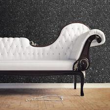701353 Muriva Textured Sparkle Black Glitter Modern Feature Wallpaper