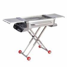 Stainless Steel Folding Portable Barbecue Charcoal Grill for Tailgating