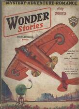 Wonder Stories July 1930 VG- Bat-Men of Mars, War of the Great Ants