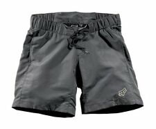NEW WITH TAGS WOMENS FOX RACING PADDED MOUNTAIN BIKE BASE SHORTS SMALL GRAY GREY