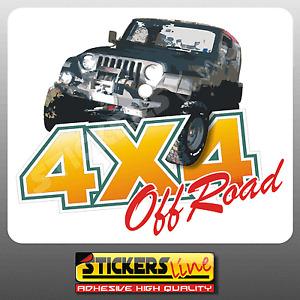 Adesivi fuoristrada 4x4 off road stampato cm 90x75 adesivo 4 x 4 off-road