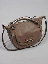 NWT COACH kristin Leather Round Satchel Crossbody  19295 FAWN e3460ffa973a2