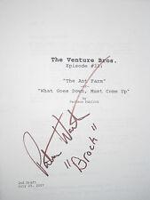 The Venture Brothers Signed TV Script Pat Warburton Cartoon Perfect Cond reprint