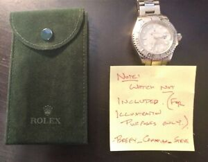 Authentic Rolex Green Travel Pouch NO RESERVE