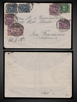 1923 GERMANY COVER SENT FROM FRANKFURT TO SAN FRACISCO U.S. MI. 209W 247 268 270