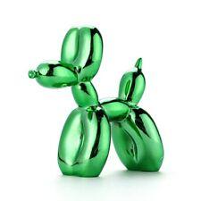 Green Jeff Koons Style Dog Balloon moderne chiens résine artisanat Sculpture