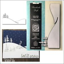 Snowbanks Drift metal die - Memory Box cutting dies 99805 Christmas Winter snow