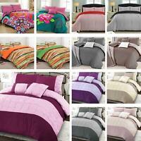 Soft Cotton Blend Duvet Quilt Cover Set Single Double Super King Size Bedding