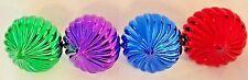 """Multicolor 2.5"""" Spiral Ball Ornament - Lot of 4"""