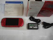 Sony PSP 3000 Radiant Red Handheld Console Japan Firmware 6.36 Boxed