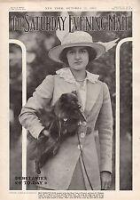 1913 Saturday Evening Mail October 11 - Totem Poles; Edna Goodrich; Harvard Ball