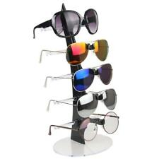 Acrylic 5 Pairs Sunglasses Eyeglasses Display Stand Organizer Holder Show Rack
