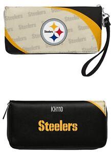 Pittsburgh Steelers NFL Curve Zip Organizer Ladies Wallet