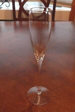 "LENOX CRYSTAL ENCORE GOLD PATTERN CHAMPAGNE FLUTE (S) 9 3/8"" TALL EXCELLENT!!"