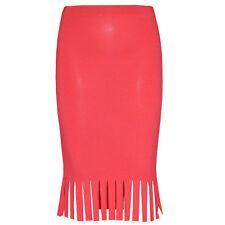 ROSA para niña rojo Flequillos Falda de tubo con Flecos Vestido De Fiesta
