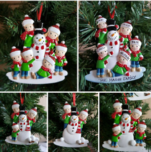 Personalised Christmas Tree Decoration Family 2/6 Do You Want To Build A Snowman