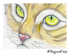 "Ginger Cat ACEO Print ""Well fine"" By V Kenworthy"