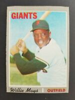 Topps San Francisco Giants 1970 Willie Mays Trading Card #600
