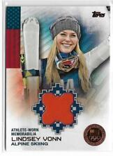 RARE 2014 TOPPS OLYMPIC LINDSEY VONN BRONZE RELIC CARD ~ /75 ~ USA ALPINE SKIING