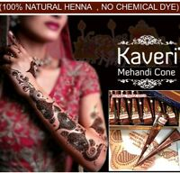 Natural Kaveri Temporary Tattoo Mehandi Herbal Henna Cones Body Art Kit
