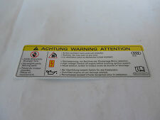 NEW GENUINE VW AUDI FRONT PANEL WARNING STICKER 8K0010520A