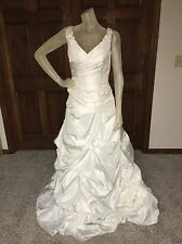 YOU by Pronovias Wedding Dress Size 12 Ivory Taffeta