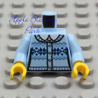 NEW Lego Female BLUE SKI SWEATER MINIFIG TORSO Girl White Shirt Light Dark Top