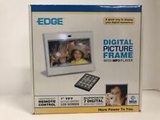 """Edge 7"""" Digital Picture Frame w/MP3 Player - LCD Screen - Open Box"""
