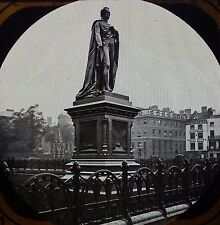 Statue of the Earl of Derby, Parliament Square, London,Magic Lantern Glass Slide