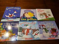 Lot of 6 Children Kids Books Preschool Scholastic Early Readers Snow Christmas