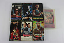 Arnold Schwarzenegger Movies VHS Lot 7 Tapes