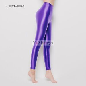 LEOHEX Women's Sexy Pantyhose Tights Satin Glossy Opaque Shiny Stretch Pants NEW