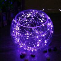 PURPLE 100 LED 32ft Fairy String Lights Copper Wires Event Party Perfect Holiday