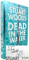 Stuart Woods DEAD IN THE WATER (Signed First Edition) 1st Edition 4th Printing