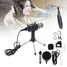 PC/Phone Microphone 3.5mm Home Studio Condenser Microphone for Podcast/Recording