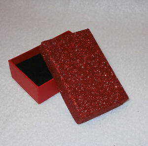 Fabulous Glitter Gift Box For Necklace Or Cufflinks Fast Postage Colour Choice