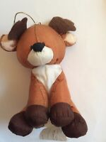Gibson Christmas Mini Reindeer Plush Ornament Brown 4-1/2 Inches Tall Adorable