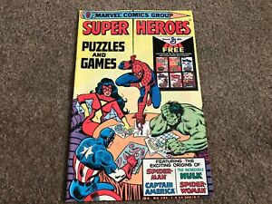 1979 Marvel Super Heroes Puzzles and Games Rare Promo Giveaway comic -high grade