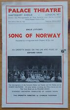 Song of Norway programme & ticket Palace Theatre 1946 Emile Littler Alan Clarke