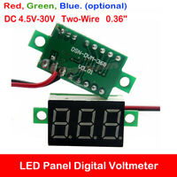 Two-Wire LED Display Voltmeter DC 4.5V-30V Panel Digital Voltage Volt Meters DIY