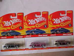 Hot Wheels Classics Series 1 Chevy Nomad Lot of 3 cars