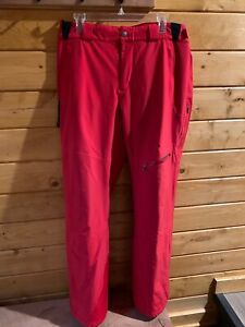 SPYDER Men's Insulated Ski Pants Red Size XL