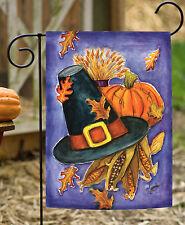 Toland Pilgrim's Delight 12.5 x 18 Thanksgiving Pumpkin Fall Autumn Garden Flag