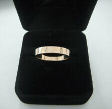 Wedding Band Ring 14k Yellow Gold Flat