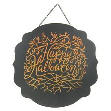 Halloween Black Happy Halloween Ivy Wall Plaque - Hyde and Eek! Boutique